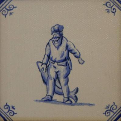 Delft Tile Series - 17th C Fisherman SOLD