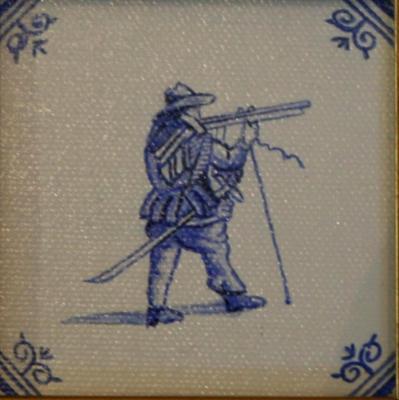 Delft Tile Series - 'Soldier'  SOLD