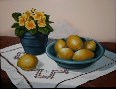 Pollyanthas & Lemons SOLD