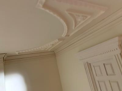 Day1: close up detail of ceiling and cornice