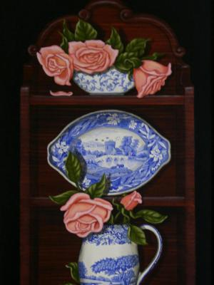 Spode with pink Roses - SOLD