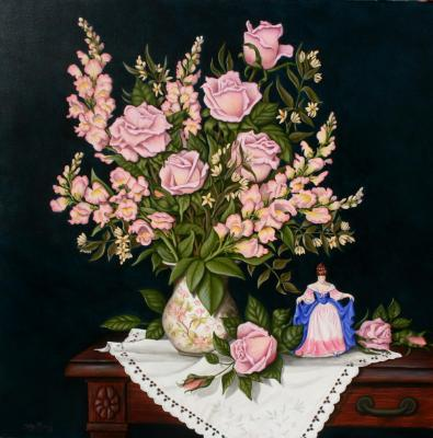 Snapdragons and Roses - ARTIST PRIVATE COLLECTION