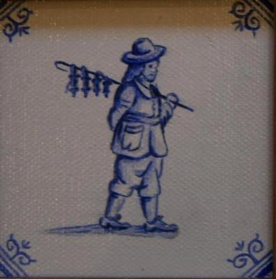 Delft tile Series - 'Town Catcher' SOLD
