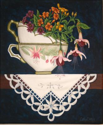 'Teacup Posy 6'  SOLD
