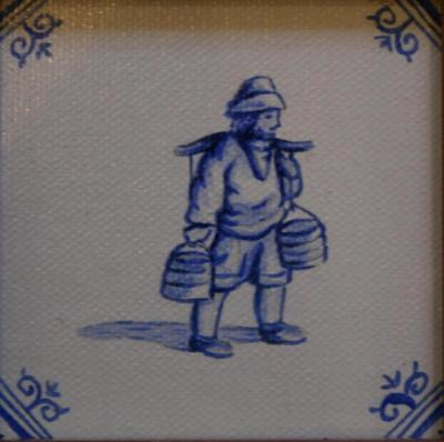 Delft Tile Series - ' 17th C Waterman' SOLD