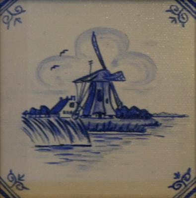 Delft Tile Series - 17th C Windmill II - SOLD
