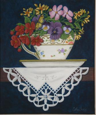 'Teacup Posy 2'  SOLD