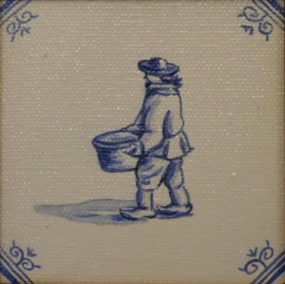 Delft Tile Series - 17th C Market's Man - SOLD