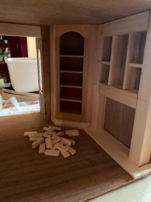 Cupboard is in now building a fireplace