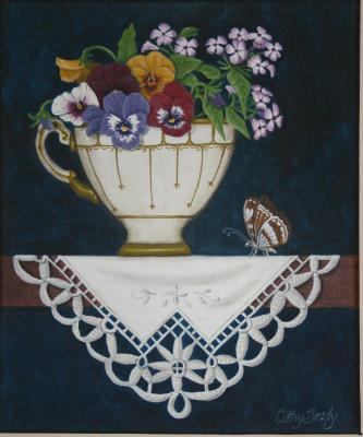 """""""Teacup Posy 3' SOLD"""