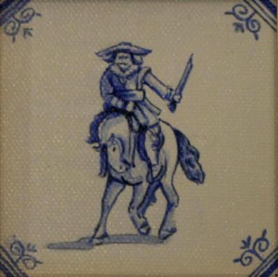 Delft Tile Series - 'Horseman' SOLD