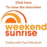 Watch the interview here ~ Weekend Sunrise 7 Network