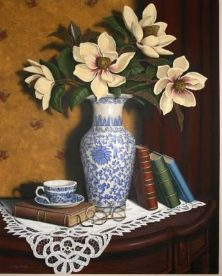 'Magnolias & the cup of the Good Shepard' SOLD