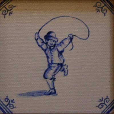 Delft Tile Series - 'Skipping Child' SOLD