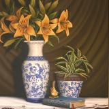 'Lilies and the Wren' SOLD