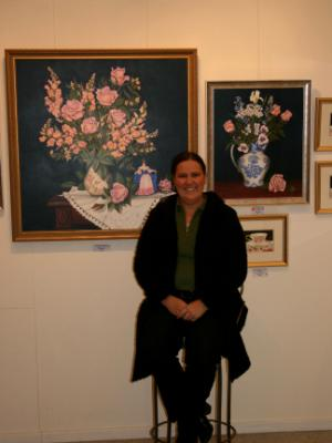 Cathy at the Gallery