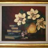'Magnolias with Staffordshire Bird'  Artists Private Collection