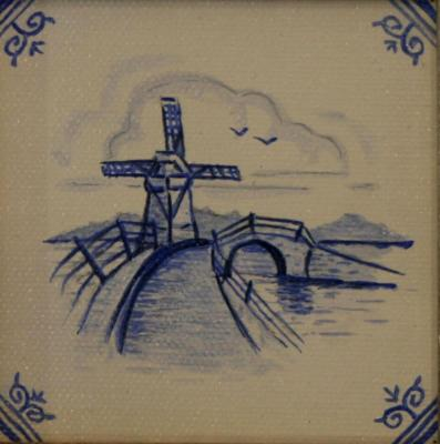 Delft Tile Series - 17th C Delft Windmill I - SOLD